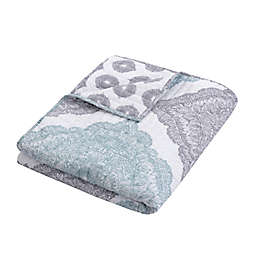 Levtex Home Grace Quilted Reversible Throw Blanket in Grey