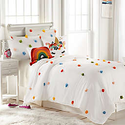 Rainbow Pom Pom 3-Piece Comforter Set