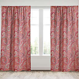 Levtex Home Avery 2-Pack 84-Inch Window Curtain Panels in Red