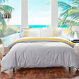 Striped Twin Duvet Cover in Yellow/Grey