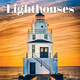 TF Publishing 2021 Lighthouses Wall Calendar
