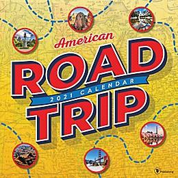 TF Publishing Road Trip: America 2021 Wall Calendar
