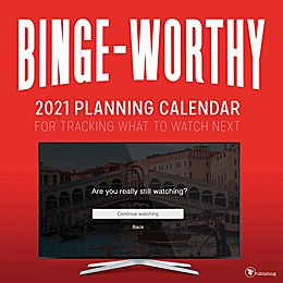 TF Publishing 2021 Binge Worthy Wall Calendar