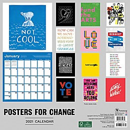 TF Publishing 2021 Posters for Change Wall Calendar