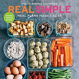 TF Publishing Real Simple-Meal Plans 2021 Wall Calendar