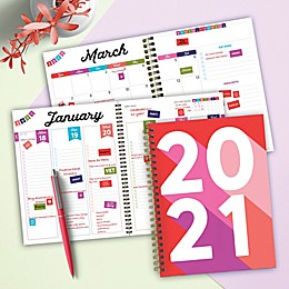 TF Publishing Big Red Rose 2021 Medium Weekly/Monthly Planner and Sticker Bundle