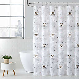 Puppy Love Natural Shower Curtain