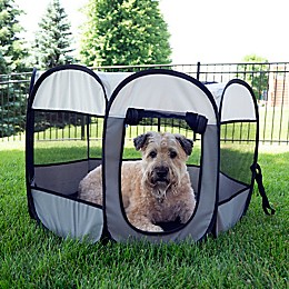 Pawslife® Portable Dog Pen in Grey