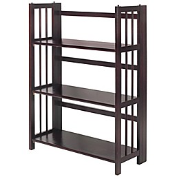 3-Shelf Folding Stackable 27.5-Inch Wide Bookcase
