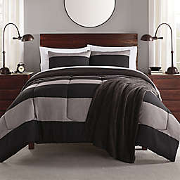 Daniel 6-Piece Twin/Twin XL Comforter Set in Black/Grey