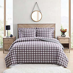 UGG® Juvie 3-Piece King Flannel Duvet Cover Set in Cabernet