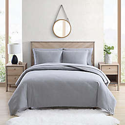 UGG® Juvie 3-Piece Full/Queen Flannel Duvet Cover Set in Heather Grey
