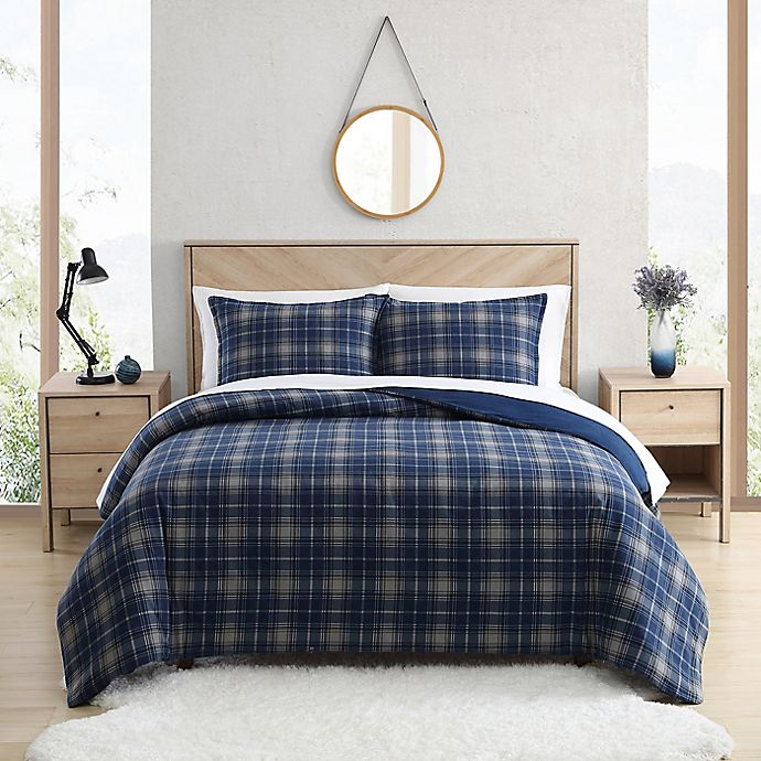 Alternate image 1 for UGG® Juvie 3-Piece Flannel Duvet Cover Set