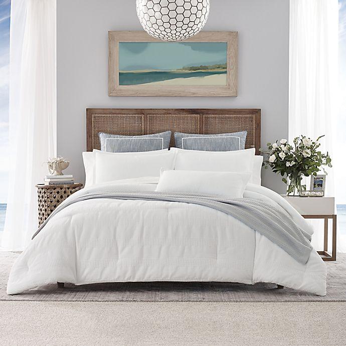 Alternate image 1 for Nautica® Hampton 3-Piece Reversible Duvet Cover Set in White