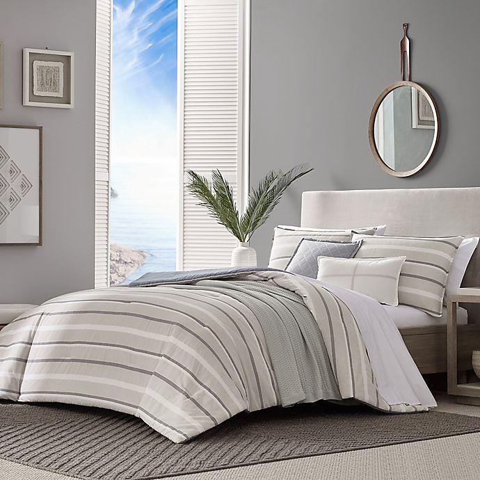 Alternate image 1 for Nautica® Woodbine 5-Piece Reversible Comforter Set in Tan