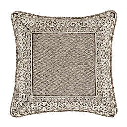 J. Queen New York Milan Embroidered Square Throw Pillow in Taupe