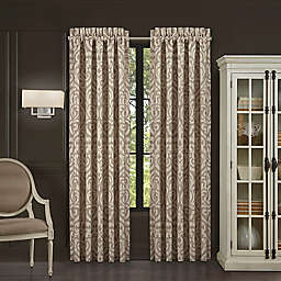 J. Queen New York Milan 2-Pack 84-Inch Window Curtain Panels in Oatmeal