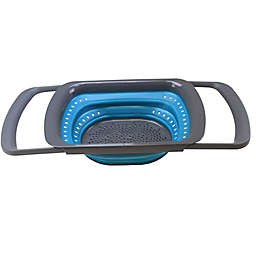 Squish® Collapsible Over-the-Sink Colander in Teal/Gray
