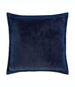 Cojines decorativos de poliéster de micromink UGG® Coco Luxe color azul marino, Set de 2