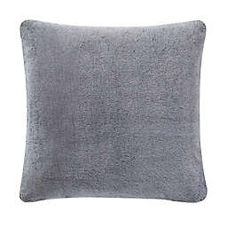UGG® Dawson Faux Fur Square Throw Pillow in Charcoal