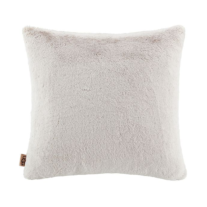 Alternate image 1 for UGG® Dawson Faux Fur Square Throw Pillow
