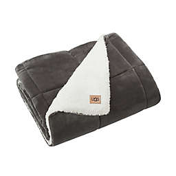 UGG® Avery Quilted Throw Blanket in Charcoal