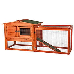 TRIXIE Pet Products Natura Extra-Small 2-Story Small Animal Hutch with Outdoor Run in Brown