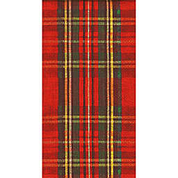 Boston International 32-Count Holiday Check Paper Guest Towels in Red