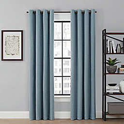 Brookstone® Saville 108-Inch Grommet 100% Blackout Window Curtain Panel in Blue