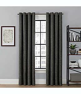 Cortina blackout Brookstone® Saville color gris carbón