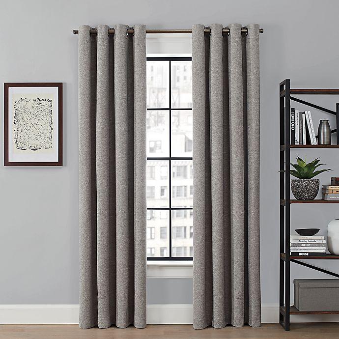 Alternate image 1 for Brookstone® Saville 63-Inch Grommet 100% Blackout Window Curtain Panel in Grey (Single)