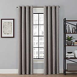 Brookstone® Saville 63-Inch Grommet 100% Blackout Window Curtain Panel in Grey (Single)