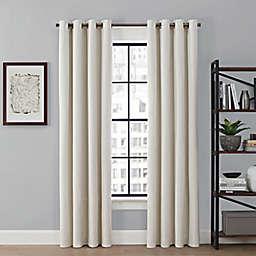 Brookstone® Saville 63-Inch Grommet 100% Blackout Window Curtain Panel in Ivory