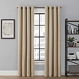 Brookstone® Saville 63-Inch Grommet 100% Blackout Window Curtain Panel in Linen (Single)