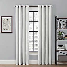 Brookstone® Saville 84-Inch Grommet 100% Blackout Window Curtain Panel in White (Single)