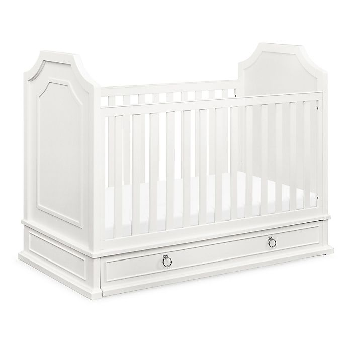 Alternate image 1 for Emma Regency 3 in 1 Convertible Crib in Warm White