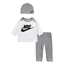 Nike® Preemie 3-Piece Futura Shirt, Footed Pant, and Hat Set