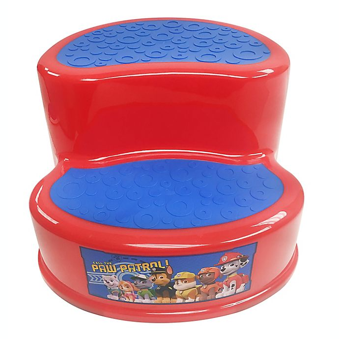 Alternate image 1 for Nickelodeon™ PAW Patrol 2-Tier Step Stool in Red/Blue