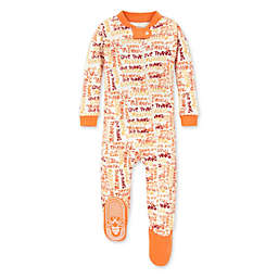 Burt's Bees Baby® Thankful Footed Pajama in Carrot