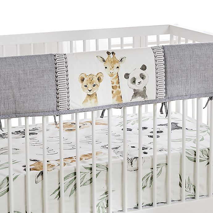 Alternate image 1 for Levtex Baby Mozambique Rail Guard in Grey/Cream