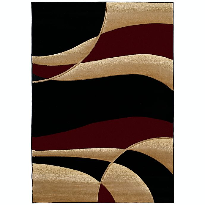 Alternate image 1 for United Weavers Contours Avalon 5-Foot 3-Inch x 7-Foot 6-Inch Area Rug in Burgundy
