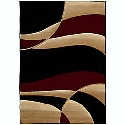 United Weavers Contours Avalon 5-Foot 3-Inch x 7-Foot 6-Inch Area Rug in Burgundy