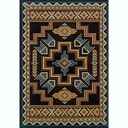 United Weavers Talon Smoke Area Rug in Blue