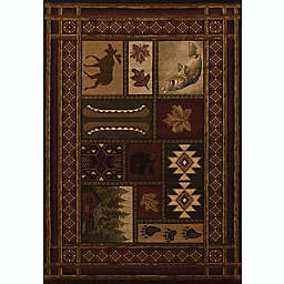 United Weavers Contours Cabin Chalet 7-Foot 10-Inch x 10-Foot 6-Inch Area Rug in Toffee