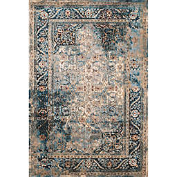United Weavers Jules Camelot Tufted 5'3 x 7'2 Accent Rug in Cerulean