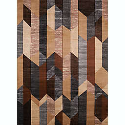 United Weavers Contours Dominion Tufted 2' x 8' Area Rug in Brown