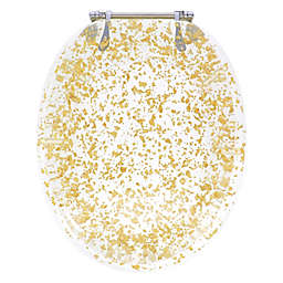 Ginsey Elongated Toilet Seat in Gold