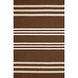 Panama Jack Parallel 1-Foot 11-Inch x 3-Foot Indoor/Outdoor Accent Rug in Chocolate