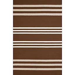 Panama Jack Parallel 5-Foot x 7-Foot 6-Inch Indoor/Outdoor Area Rug in Chocolate