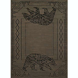 United Weavers Affinity Bear Cave 5' x 8' Area Rug in Blue/Grey